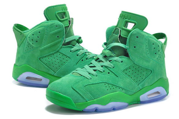 Air Jordan 6 For Women Shoes Green/white